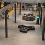 Einkaufszentrum Stücki Basel Bodenbelag aus Iragna