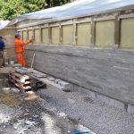 Verlegung von Riemchen aus Hellas Quarzit in Gstaad